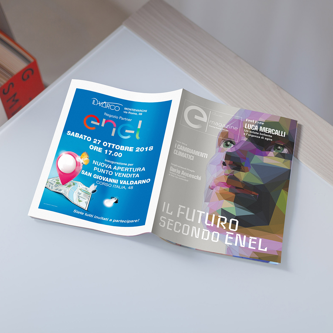 ENEL magazine progettazione grafica slide 1