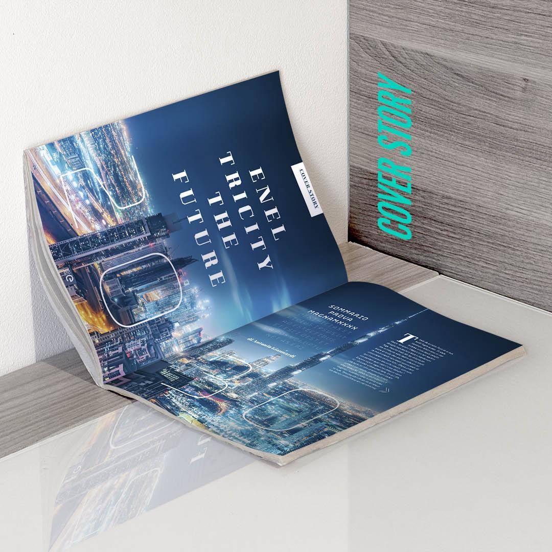 ENEL magazine progettazione grafica slide 2