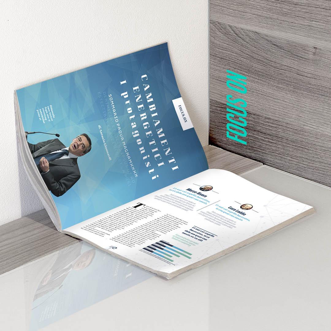 ENEL magazine progettazione grafica slide 3