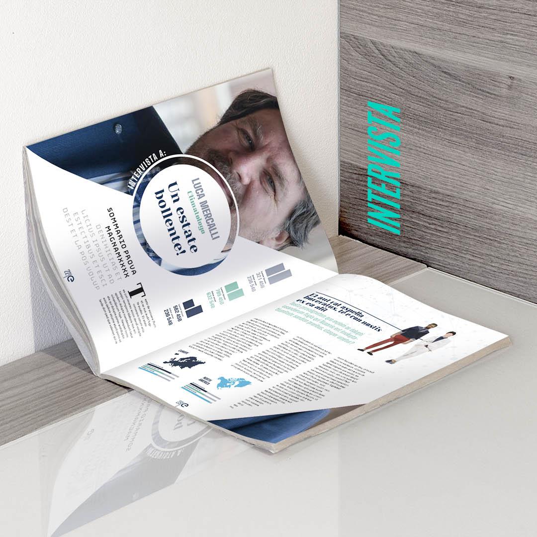 ENEL magazine progettazione grafica slide 4