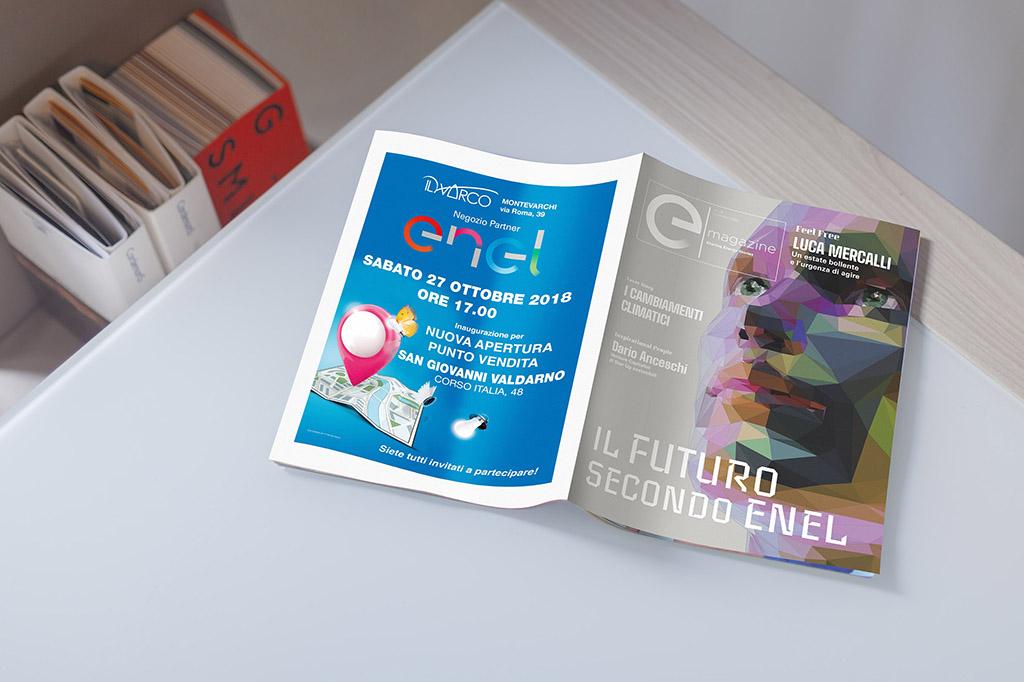 editoria enel cover e-magazine davco